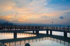 Taiwan, the new Taipei, Tamsui Sunset Royalty Free Stock Photos