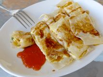 Taiwan omelettcloseup Royaltyfri Bild