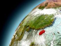 Taiwan from orbit of model Earth Stock Photos