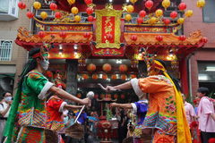 Taiwan performing art the eight generals. Taiwan traditional culture Royalty Free Stock Images