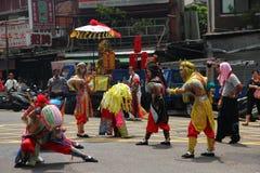 Taiwan-Performing Art fünf Geister und Zhong Kui lizenzfreies stockbild