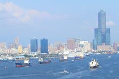 Taiwan: Porto di Kaohsiung Fotografia Stock