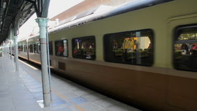 Taiwan Railway (TRA), Tze Chiang Express Train at Taichung Station. HD. Taichung, Taiwan, ROC- February 2, 2015: The Tze Chiang Express Train at Taichung Station stock footage