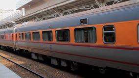 Taiwan Railway (TRA), Tze Chiang Express Train at Taichung Station. HD. Taichung, Taiwan, ROC- February 2, 2015: The Tze Chiang Express Train at Taichung Station stock video