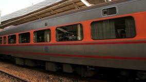 Taiwan Railway (TRA), Tze Chiang Express Train at Taichung Station. HD stock video footage
