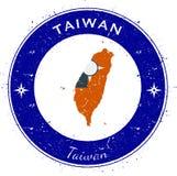 Taiwan, Republic Of China circular patriotic. Stock Images