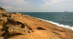 Taiwan. Rocks on the beach royalty free stock photography