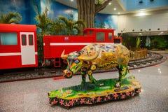 Taiwan's Alishan Alishan train with cattle, cattle Stock Photography