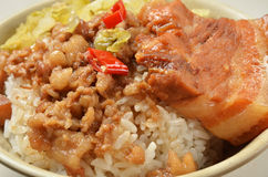 Stewed pork and rice Royalty Free Stock Photo