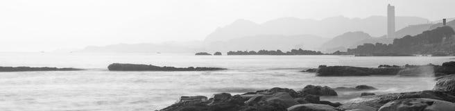 Taiwan, Scenic Area, Keelung, North Coast, Natural Geological Rocks, Sea, royalty free stock image