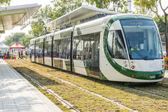 Taiwan's first light rail transit in Kaohsiung Royalty Free Stock Images