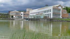 Taiwan`s most beautiful university, Taitung Donghua University stock footage
