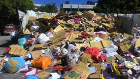Taiwan`s recycling yard - paper royalty free stock photography