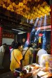 Taiwan's religious beliefs. Ilan Nanfangao the temple pilgrims Stock Image
