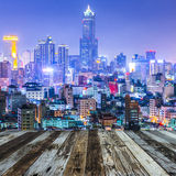 Taiwan's second largest city - Kaohsiung Stock Photography