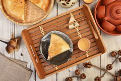 Meat pasty. Taiwan`s  traditional cake - Meat pasty Royalty Free Stock Photo
