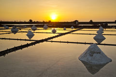 Taiwan Salt pan scenery Stock Photo