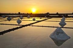 Taiwan Salt pan scenery Stock Photo