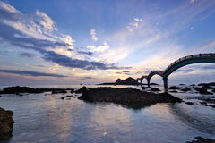 Taiwan Sanxiantai soluppgång Royaltyfri Fotografi