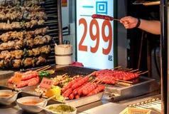 Taiwan sausage stock photography