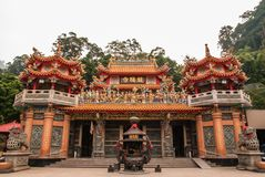 Taiwan Shrine on Alisan national park. Taiwan royalty free stock photography