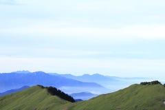Taiwan skönhet - Hehuan berg Arkivbilder