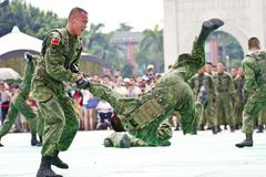 Taiwan special forces military exhibition Stock Images