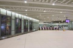 Taiwan: Stazione della metropolitana dell'aeroporto di Taoyuan Immagine Stock Libera da Diritti