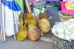 Taiwan, Tainan 28 Mei: verscheidene Jackfruit Royalty-vrije Stock Foto's