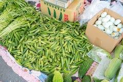 Taiwan, Tainan 28 Mei: verscheidene okra's Stock Fotografie