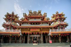 Taiwan , Tainan Sicao - March 9: Sicao Dazhong Temple , the chinese word on the temple is `Dazhong Temple` in Taiwan. Taiwan , Tainan Sicao - March 9: Sicao royalty free stock image