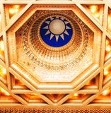Taiwan, Taipei, Dome Ceiling Chiang Kai Shek memorial also called the Democracy Hall royalty free stock image
