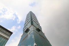 TAIWAN TAIPEI - Maj 23, 2017 Taipei 101 skyskrapa Buildinen Royaltyfri Bild