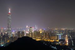 Taiwan : Taipei at Night Royalty Free Stock Photography