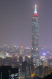 Taiwan : Taipei at Night Royalty Free Stock Photo