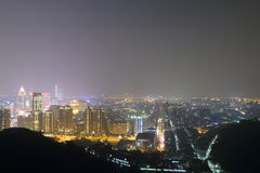 Taiwan : Taipei at Night Royalty Free Stock Photos