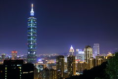 Taiwan : Taipei at Night Stock Photo