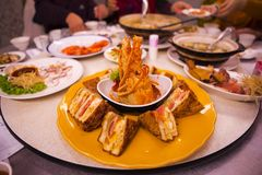 Taiwan Taipei, Seafood Restaurant, Lobster Sandwiches, Special Menu, Lobster & Bread Crisp, Crispy Crispy Sandwich, stock photography