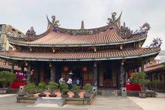 Taiwan, Taiwan - May 2018: People praying at Dalongdong Baoan Temple in Taipei, Taiwan Royalty Free Stock Photos