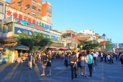 Taiwan : Tamsui Old Street Royalty Free Stock Images