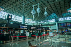 Taiwan Taoyuan International Airport Terminal Royalty Free Stock Image