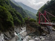 Taiwan Taroko mountain landscape stock image