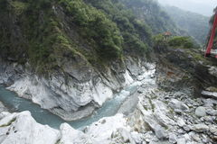 TAIWAN  Taroko National Park Cimu Bridge Stock Photography