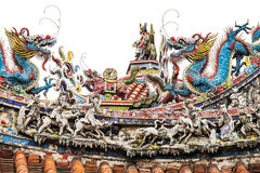 Taiwan tempelgarneringar royaltyfria bilder