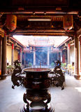 Taiwan temple courtyard Stock Photo