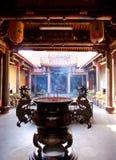 Taiwan temple courtyard stock photo