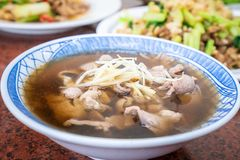 Taiwan traditional delicious angelica lamb soup. In kaohsiung stock images