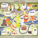 Taiwan travel board game Stock Photos