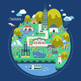 Taiwan travel concept Stock Images