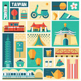 Taiwan travel concept Royalty Free Stock Photography